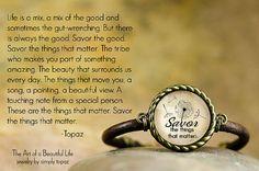 Inspirational Jewelry  Savor Inspirational Bracelet by simplytopaz