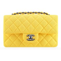 Check Out Chanel's Spring 2014 Bags, Now in Stores - Page 2 of 42 -... ❤ liked on Polyvore featuring bags, handbags, clutches, chanel, purses, yellow purse, chanel pochette, chanel handbags, backpack purse and yellow handbag