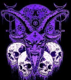 I want that Satan tattooed in me! Ange Demon, Demon Art, Baphomet, Gothic Fantasy Art, Creepy Tattoos, Satanic Art, Religion, Metal Artwork, Dark Matter