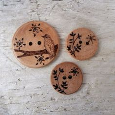 Bird and Butterfly Sewing Buttons by fizzee*, via Flickr
