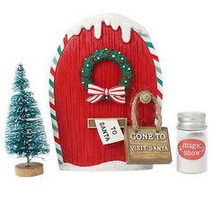 Elf Fairy Door & Accessory Gift Box, Christmas Santa Fairy Door, Decoration