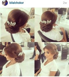 Gorgeous Wedding Hairstyles Half up Half down – Chignon – Makeup, Nails and Beauty – Grandcrafter – DIY Christmas Ideas ♥ Homes Decoration Ideas Quince Hairstyles, Formal Hairstyles, Bride Hairstyles, Chignon Wedding, Bridal Hair Updo, Wedding Hairstyles Tutorial, Wedding Hairstyles Half Up Half Down, Hair Upstyles, Quinceanera Hairstyles