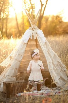 Teepee vibe but add lace and sheer panels to make more winter wonderland