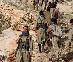 Kurdish Freedom fighter of Eastern Kurdistan The Kurds, Female Fighter, Kurdistan, Freedom Fighters, Guerrilla, Military, Warrior Women, History, Middle East