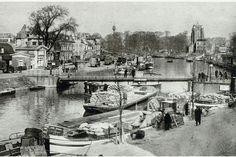de oude tram-draaibrug naar de elizabethstraat vanaf de willemskade Leeuwarden