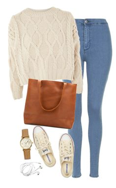 """Untitled #449"" by ksenia1ksu ❤ liked on Polyvore featuring Topshop, Converse and H&M"