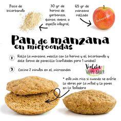 PAN DE MANZANA AL MICROONDAS