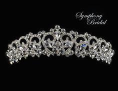 Affordable Elegance Bridal - Symphony Bridal Regal Wedding Tiara 7929CR, $129.98 (http://www.affordableelegancebridal.com/symphony-bridal-regal-wedding-tiara-7929cr/)
