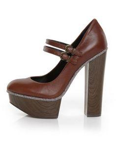 Jessica Simpson Rych Luggage Brazileira Mary Jane Platform Heels  $109.00 $76.00