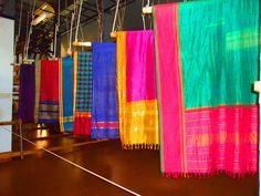 Kanchipuram silks...everyone got a silk scarf for Christmas that year!  LOL!!
