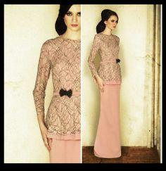 Jovian Mandagie's design. Malaysia's well known Fashion Designer. Loving it! Peplum Baju Kurung.