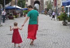 """This Dad's Superhero Cape is a Skirt-""""Nils Pickert's five-year-old son likes to wear dresses, and given how closed-minded people can be, Nils wanted to make sure that he grows up with a strong, positive role model. So he did what any mind-bogglingly incredible dad would do: he started wearing skirts himself."""""""