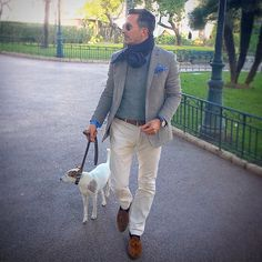 A quick walk in the park to clear the head on a tough day in the office... #monaco #park #walk #dog #jackrussell #terrier #chien #gentleman #dapper #dandy #casual #elegance #chic #bespoke #tailoring #menswear #mensstyle #mensfashion #streetstyle #streetfashion #luxury #lifestyle
