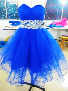 Custom tulle short Ball gowns Bridal Gown Bridesmaid Dress Evening Prom Dress from kissbridal on Etsy. Saved to Wedding dresses. Dama Dresses, 15 Dresses, Cute Dresses, Evening Dresses, Short Dresses, Prom Dress 2014, Homecoming Dresses, Prom 2014, Blue Bridesmaid Dresses