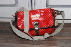 Cotton Road Handbag with white dots - The Funky Feather