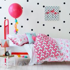 Adairs Kids Fifi Flamingo Quilt Cover Set, kids quilt covers, doona covers from…