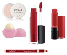 """""""Lip Set"""" by g4glam on Polyvore featuring beauty, Fresh, Eos, John Lewis and MAC Cosmetics"""