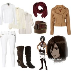 """Mikasa Ackerman/SNK Casual Cosplay"" by casual-cosplay on Polyvore"