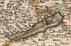 #Balaton #vintage #map from 1709. #Hungary #Europe Hetalia Characters, Big Lake, Central Europe, Finland, Norway, Vintage World Maps, Budapest, History, Anime