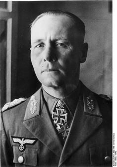 Portrait of Colonel General Erwin Rommel, 6 Jun 1942; note Knight's Cross and Pour le Mérite medals