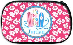 Personalized Carry-All Accessory Bag; Travel, Camp, Swim, Beach by Pink Wasabi Ink