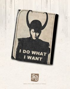 LOKI leather wallet , I do what I want , Thor, The Avengers, Marvel. $26.25, via Etsy.