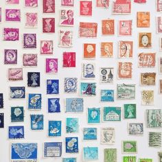 I have so many stamps. Never thought of displaying them this way. I like it!