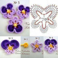 Croche e Pontos: Flores 7/2/18