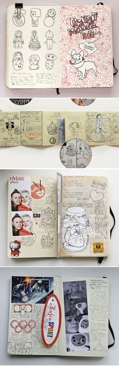 My Diary by Anna Rusakova https://www.behance.net/gallery/My-Diary/195824?utm_source=network&utm_medium=project_footer&utm_campaign=project_footer_references