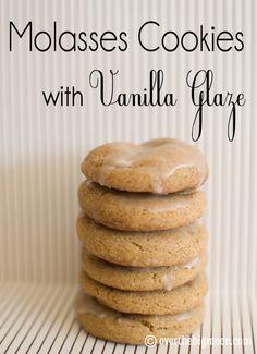 Molasses Cookies w/ Vanilla Glaze | Over the Big Moon