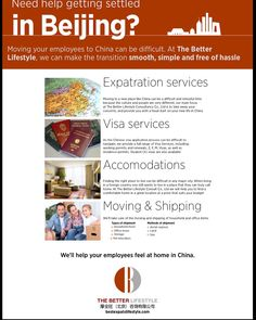 Bestexpatslifestyle.com # The Better Lifestyle Consultancy Co. Ltd # Visa # Education # relocation help in China & best promotion platform in China market for you # flats service # move and ship offer  # etc