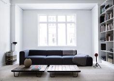 Yvonne Koné apartment Copenhagen | Remodelista. those tables are very interesting