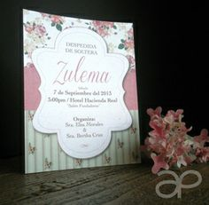 Invitación Vintage para Despedida de Soltera   www.alepineda.com