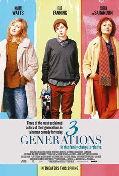 """W przypadku """"3 Generations"""" okoliczności jego powstania i dystrybucji są równie ciekawe jak sam film. Ma doborową obsadę (Elle Fanning, Naomi Watts i Susan Sarandon w rolach głównych), a wyreżyserowała go ceniona twórczyni kina niezależnego,Gaby Dellal. Nakręcono go w USA w 2015 roku,..."""