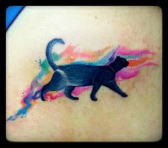 Watercolor cat tattoo by Jhay Colis 55 Tinta, Maginhawa Street, Quezon City, Manila Philippines