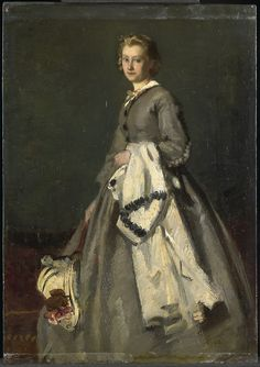 Young woman / oil on panel / 1863 /  Date	1863 / August Allebé / Rijksmuseum