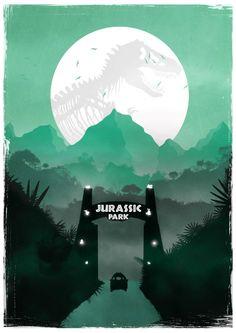 Jurassic Park Inspired Minimalist Print Art Print by Geeky Ninja