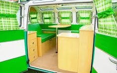 Image result for yellow camper interior