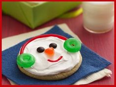 Christmas snowman cookie.