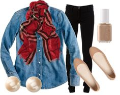 """""""Nude Double Denim"""" by qtpiekelso on Polyvore"""