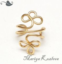 HALF PRICE Celtic Clever Ear Cuff Gold Color by KOZLOVA on Etsy, $3.95