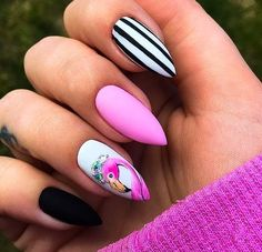 Trendy peach nails with designs almond Ideas Summer Acrylic Nails, Best Acrylic Nails, Summer Nails, Classy Nails, Stylish Nails, Trendy Nails, Flamingo Nails, Peach Nails, Nagel Blog
