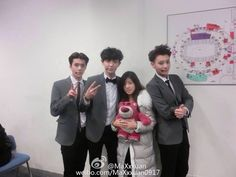 #Sehun, #Chanyeol and #Tao | 150101 MaXxxuan Weibo Update