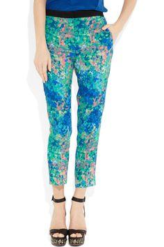 SANDRO  Pressage tapered floral-print twill pants