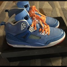 pretty nice 1d742 1edcb Jordan Shoes   Air Jordan Spizike   Color  Blue Orange   Size  9.5