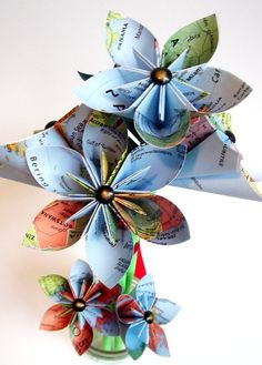 Map bouquet! $25.00