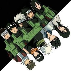 Yamato,Gai,Kakashi,Asuma e Kurenai
