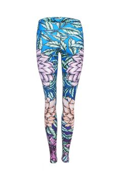 Summer High Waist Printed Activewear and Yoga Legging - Full Length – Dharma Bums Yoga and Activewear