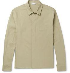 JIL SANDER Stretch-Cotton Canvas Shirt. #jilsander #cloth #casual shirts