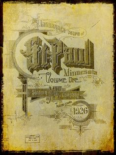 Insurance Maps of St. Paul by austins, via Flickr